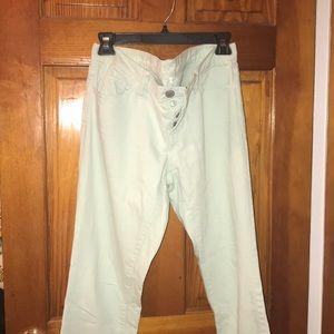 Sea Foam boyfriend jeans LOFT